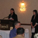 Brynn Allio Popa and Ann Marie Powers from COSE, announcing the new Chamber Affiliate program.