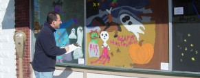 Halloween Window Painting Contest Returns