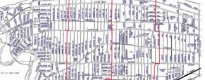 Lakewood Street Map