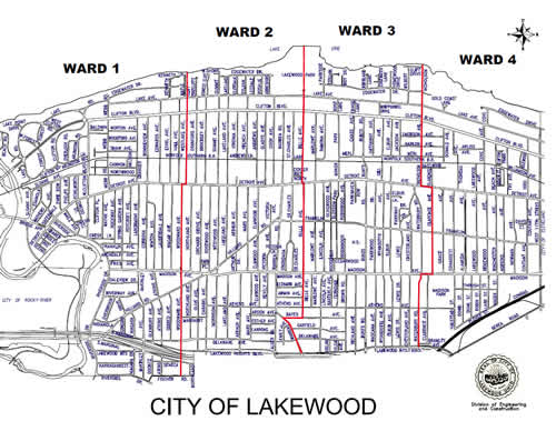 Lakewood Street Map
