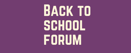 Back to School Forum – Brown Bag Luncheon Zoom Webinar