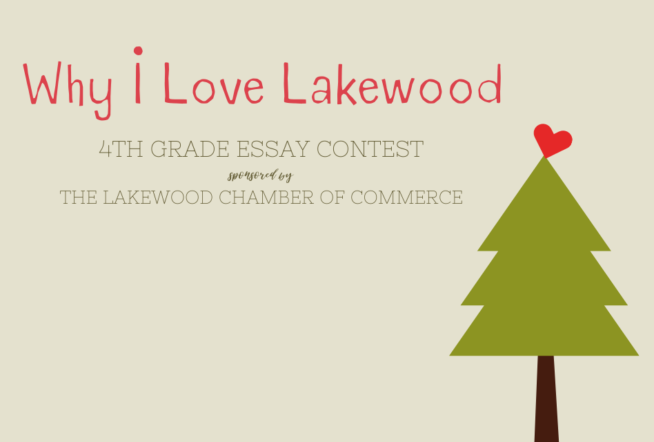 """Why I Love Lakewood"" 4th Grade Essay Contest – Contest Deadline: November 13, 2020"
