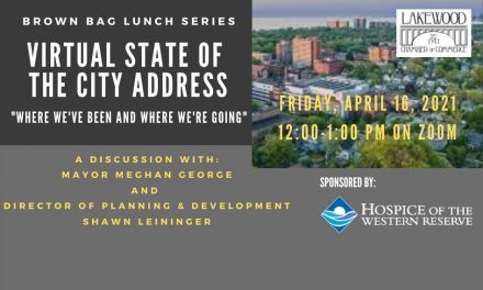 "April Brown Bag Luncheon: Virtual State of the City Address – ""Where We've Been and Where We're Going."""